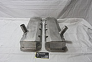 GM Aluminum Valve Covers BEFORE Chrome-Like Metal Polishing and Buffing Services / Restoration Services