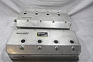 Moroso Hemi 815 Cubic Inch Engine V8 Valve Covers BEFORE Chrome-Like Metal Polishing and Buffing Services / Restoration Services / Painting Services