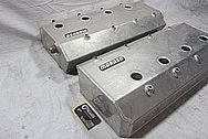 Rocket Racing Aluminum V8 Valve Covers AFTER Chrome-Like Metal Polishing and Buffing Services / Restoration Services / Painting Services