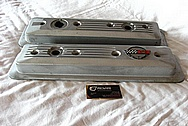 Chevrolet Corvette Aluminum Valve Covers BEFORE Chrome-Like Metal Polishing and Buffing Services / Restoration Services Plus Custom Painting Services