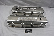 Pilcher Racing Aluminum Valve Covers BEFORE Chrome-Like Metal Polishing and Buffing Services / Restoration Services