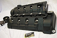 Ford Mustang Shelby GT500 Aluminum Valve Covers BEFORE Chrome-Like Metal Polishing and Buffing Services
