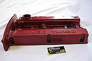 2006 Mitsubishi EVO 9 Turbo Aluminum Valve Cover BEFORE Chrome-Like Metal Polishing and Buffing Services