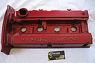 2006 Mitsubishi EVO 9 Turbo Aluminum Valve Cover BEFORE Chrome-Like Metal Polishing and Buffing Services