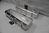 V8 Sheet Metal Valve Covers BEFORE Chrome-Like Metal Polishing and Buffing Services / Restoration Services