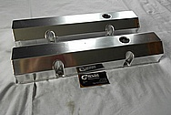 Sheet Metal Aluminum Valve Covers BEFORE Chrome-Like Metal Polishing and Buffing Services / Restoration Services