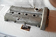 Mazda 16 Valve Aluminum Valve Cover BEFORE Chrome-Like Metal Polishing and Buffing Services / Restoration Services
