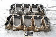 Truck Aluminum Valve Cover BEFORE Chrome-Like Metal Polishing and Buffing Services / Restoration Services