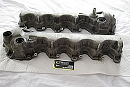 2005, 2006, 2007, 2008, 2009, 2010 Ford Mustang 4.6L V8 Magnesium Valve Covers BEFORE Chrome-Like Metal Polishing and Buffing Services Plus Clearcoating Services