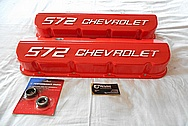 572 Chevorlet Aluminum Valve Covers BEFORE Chrome-Like Metal Polishing and Buffing Services / Restoration Services
