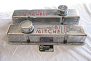 Bill Mitchell 427 Cubic Inch 525HP Engine Aluminum Valve Covers BEFORE Chrome-Like Metal Polishing and Buffing Services Plus Clearcoating and Custom Painting Services