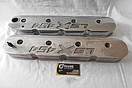 LSX 454 Aluminum Valve Covers BEFORE Chrome-Like Metal Polishing and Buffing Services / Restoration Services and Custom Panting Services