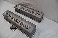 Aluminum Chevorlet Valve Covers BEFORE Chrome-Like Metal Polishing and Buffing Services / Restoration Services