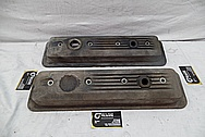 Aluminum Valve Covers BEFORE Chrome-Like Metal Polishing and Buffing Services / Restoration Services