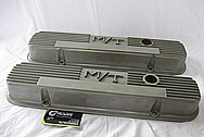 1966 Pontiac GTO M/T Aluminum Valve Covers BEFORE Chrome-Like Metal Polishing and Buffing Services