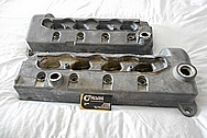 Ford Mustang Cobra 4.6L Engine DOHC Aluminum Valve Covers BEFORE Chrome-Like Metal Polishing and Buffing Services / Restoration Services