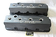 Ray Barton 572 Cubin Inch Engine V8 1990 Dodge Daytona Aluminum Valve Covers BEFORE Chrome-Like Metal Polishing and Buffing Services