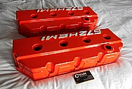 572 Hemi Aluminum Valve Covers BEFORE Chrome-Like Metal Polishing and Buffing Services / Restoration Services