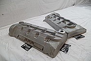 Ford Mustang Cobra DOHC Aluminum Valve Cover BEFORE Chrome-Like Metal Polishing and Buffing Services / Restoration Services