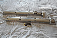 Jaguar Aluminum Valve Cover BEFORE Chrome-Like Metal Polishing and Buffing Services / Restoration Services