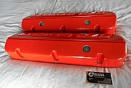 Chevrolet 572 Aluminum Valve Cover BEFORE Chrome-Like Metal Polishing and Buffing Services / Restoration Services