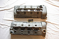 Ford Mustang V8 Aluminum Valve Covers BEFORE Chrome-Like Metal Polishing and Buffing Services