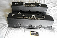 Ray Barton Aluminum Valve Covers BEFORE Chrome-Like Metal Polishing - Aluminum Polishing - Custom Painting