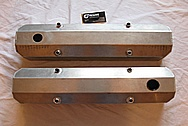 1967 Chevy Camaro V8 Aluminum Valve Covers BEFORE Chrome-Like Metal Polishing and Buffing Services