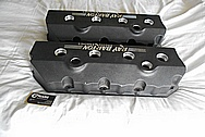Ray Barton Aluminum Valve Covers BEFORE Chrome-Like Metal Polishing - Aluminum Polishing - Custom Painting