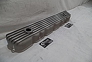 Finned Aluminum Valve Cover BEFORE Chrome-Like Metal Polishing - Aluminum Polishing Services