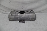 Detroit Diesel Aluminum Valve Cover BEFORE Chrome-Like Metal Polishing and Buffing Services - Aluminum Polishing