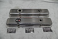 Chevrolet Corvette Aluminum Valve Covers BEFORE Chrome-Like Metal Polishing and Buffing Services - Aluminum Polishing Plus Custom Painting Services