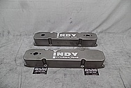 Indy Cylinder Head Aluminum Valve Covers BEFORE Chrome-Like Metal Polishing and Buffing Services - Aluminum Polishing Services PLUS Custom Painting Services