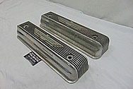 1965 Ford Thunderbird Aluminum Valve Covers BEFORE Chrome-Like Metal Polishing and Buffing Services - Aluminum Polishing - Valve Cover Polishing - Plus Custom Painting Services