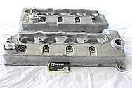 Ford Mustang Cobra 4.6L DOHC Engine Aluminum Valve Covers BEFORE Chrome-Like Metal Polishing and Buffing Services