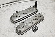 GM LS1 Aluminum Valve Covers BEFORE Chrome-Like Metal Polishing - Aluminum Polishing Services Plus Custom Painting Services