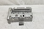 K-Tuned Aluminum Valve Cover BEFORE Chrome-Like Metal Polishing and Buffing Services / Restoration Services - Aluminum Polishing