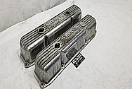 Mopar Performance Aluminum Valve Covers BEFORE Chrome-Like Metal Polishing - Aluminum Polishing and Custom Painting Service