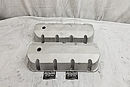 540CI Aluminum Valve Covers BEFORE Chrome-Like Metal Polishing - Aluminum Polishing
