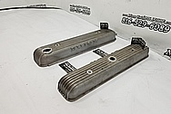 Buick Vintage Aluminum V8 Engine Valve Covers BEFORE Chrome-Like Metal Polishing - Aluminum Polishing Services