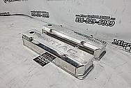 Pontiac Aluminum Valve Covers BEFORE Chrome-Like Polishing and Buffing - Aluminum Polishing - Valve Cover Polishing