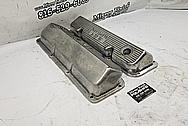 351 Cleveland Aluminum Valve Covers BEFORE Chrome-Like Metal Polishing - Aluminum Polishing - Valve Cover Polishing