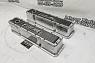 Edelbrock Aluminum Valve Covers BEFORE Chrome-Like Metal Polishing - Aluminum Polishing - Valve Cover Polishing