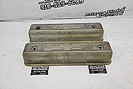 1956 Ford Thunderbird Valve Covers BEFORE Chrome-Like Metal Polishing and Buffing Services / Restoration Services - Aluminum Polishing - Valve Cover Polishing - Plus Custom Painting Services