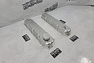 Aluminum GM LT4 Valve Covers BEFORE Chrome-Like Metal Polishing and Buffing Services / Restoration Services - Aluminum Polishing - Valve Cover Polishing