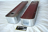 Aluminum Valve Covers BEFORE Chrome-Like Metal Polishing and Buffing Services