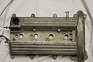 4 Cylinder Valve Cover BEFORE Chrome-Like Metal Polishing and Buffing Services