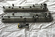 Chevrolet LS1 Aluminum Engine Valve Covers BEFORE Chrome-Like Metal Polishing and Buffing Services Plus Painting Services