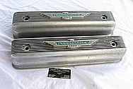 Ford Thunderbird V8 Aluminum Valve Covers BEFORE Chrome-Like Metal Polishing and Buffing Services