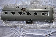 1995 Jaguar XKS Inline 6 Aluminum Valve Cover BEFORE Chrome-Like Metal Polishing and Buffing Services Plus Painting Services